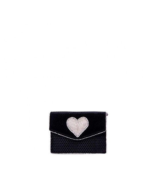 Les Petits Joueurs - Lulu Heart Bag In Black - Lyst