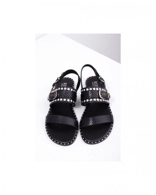 Replay Women's Footwear Axe Snakeskin Sandals Colour: Black