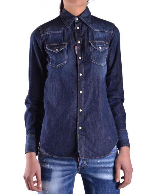 DSquared² - Blue Shirts - Lyst