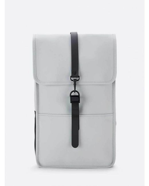 Rains - Gray Backpack In Stone - Lyst