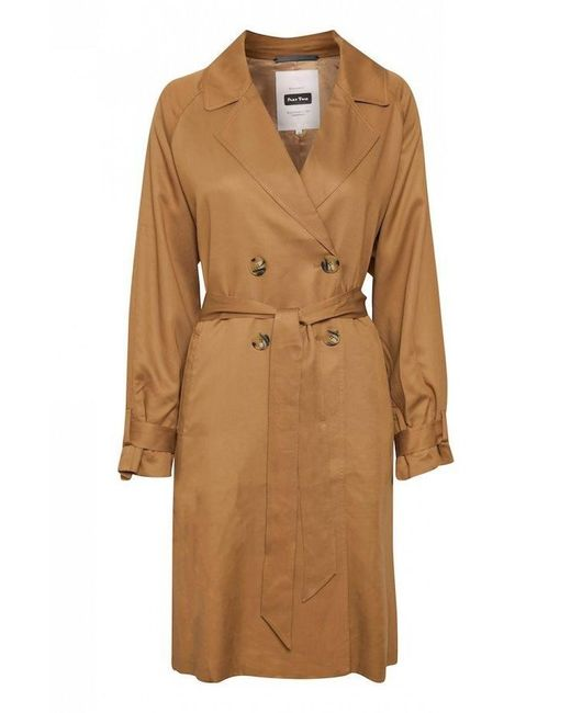 Part Two Brown Aiko Trench Coat