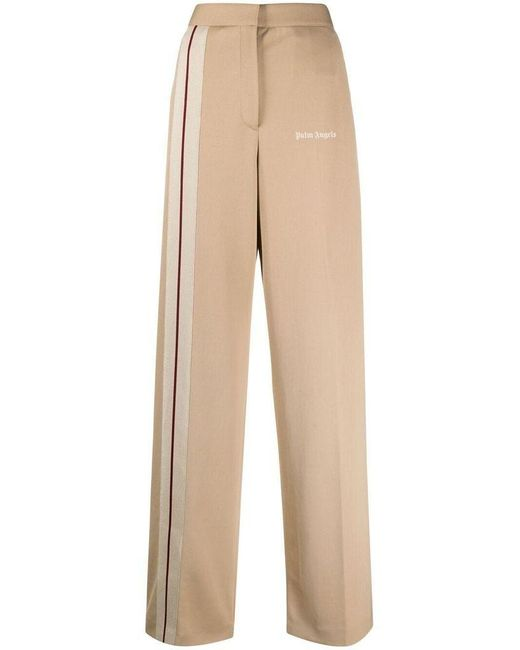 Palm Angels Brown Women's Pwca051s21fab0028561 Beige Polyester Pants