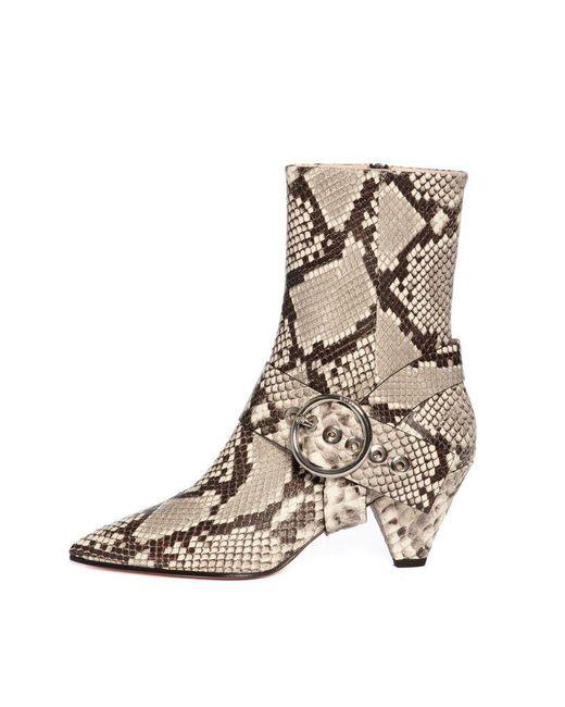 Salar Multicolor Sophia White Snake Boots