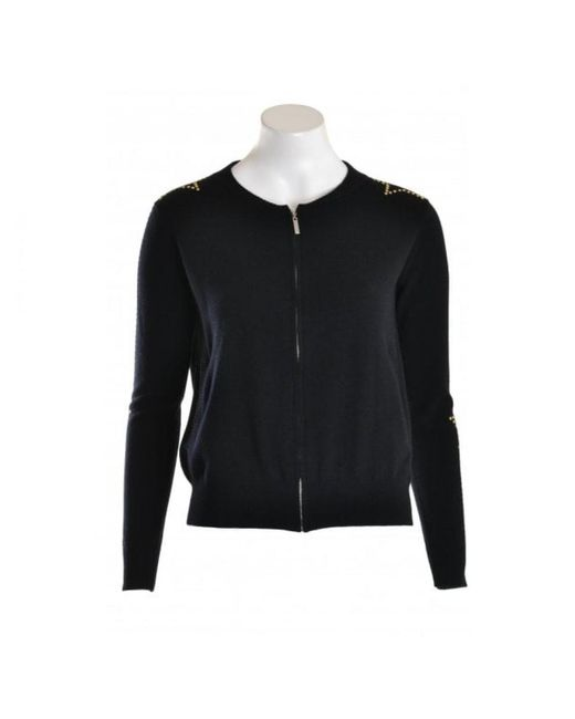 Wyse London Wyse Sweater Colette Zip Star Stud Gold Black