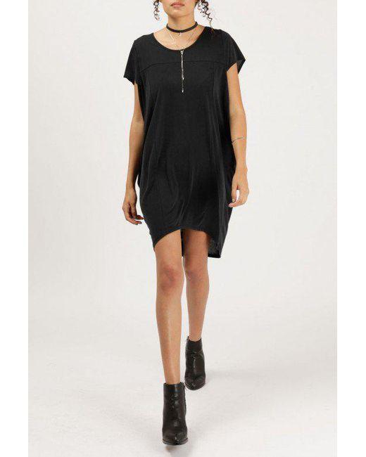 Azalea | Black Oversize S/s Tunic Dress | Lyst