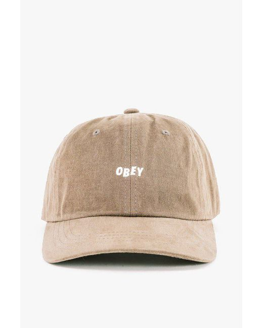 971a852f86e Lyst - Obey Jumble Bar Iii 6 Panel Hat in Natural for Men