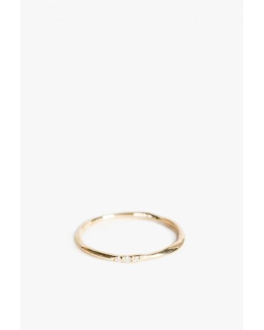 Blanca Monros Gomez | Metallic Thin Wavy 18k Band W/ Diamonds | Lyst