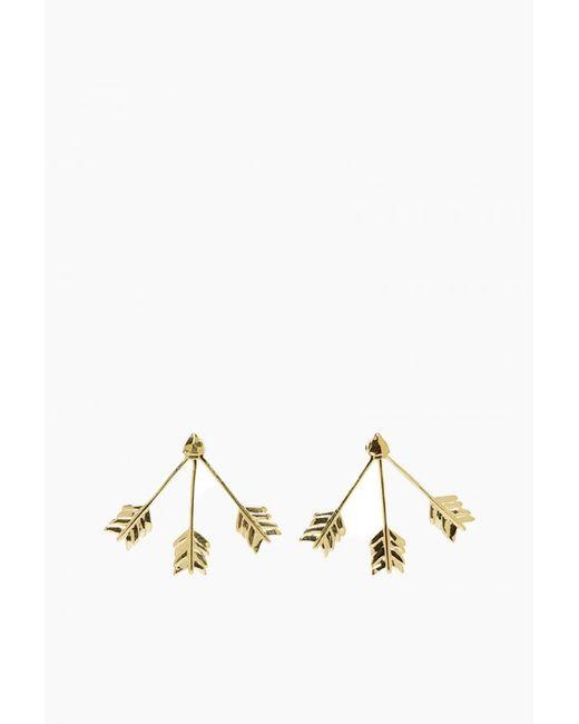 Pamela Love | Metallic Triple Arrow Earring | Lyst
