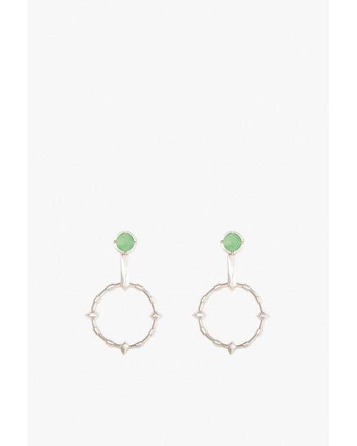 Lacar | Metallic Hilt Chrysoprase Earrings | Lyst
