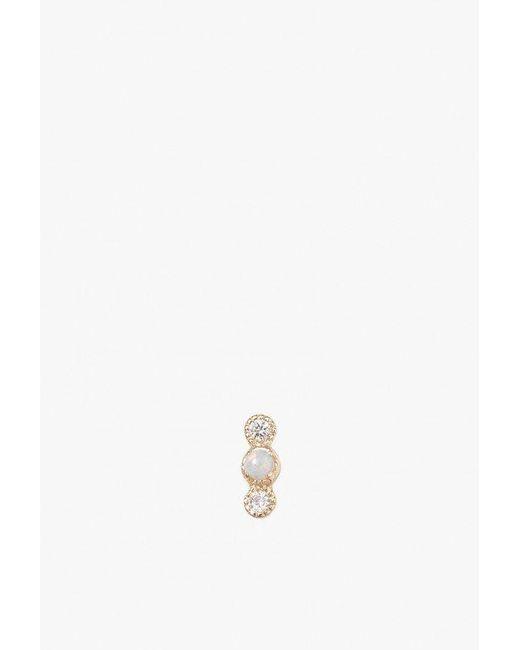 Jennie Kwon   Metallic Opal Diamond Dot Stud S   Lyst