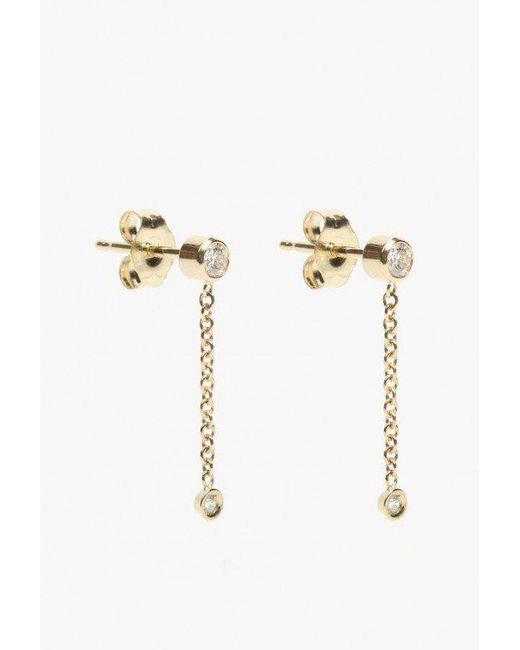 Ariel Gordon | Metallic Diamond Chain Drop Earrings | Lyst
