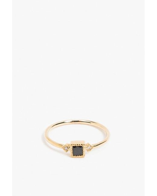 Jennie Kwon | Metallic Square Sotto Voce Ring | Lyst