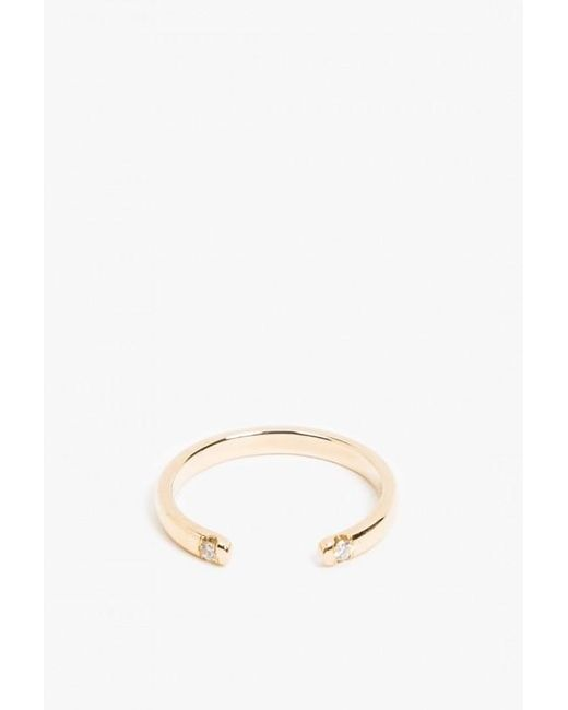 Jennie Kwon | Metallic Half Round 2 Diamond Cuff Ring | Lyst