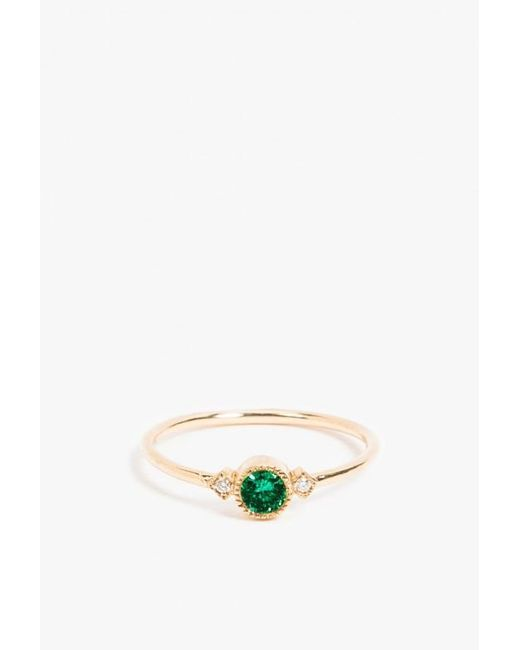 Jennie Kwon | Metallic Emerald Sotto Voce Ring | Lyst