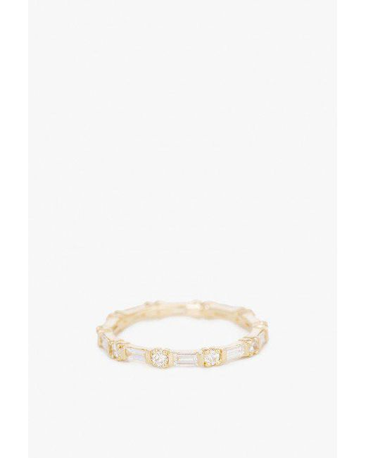 Jennie Kwon - Multicolor Baguette Dia Eternity Ring - Lyst