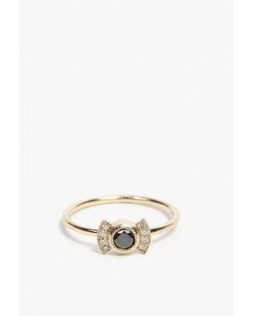 Jennie Kwon   Metallic Black Diamond Deco Ring   Lyst