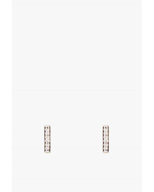 Adina Reyter - Metallic Tiny Pave Bar Post Earrings - Lyst