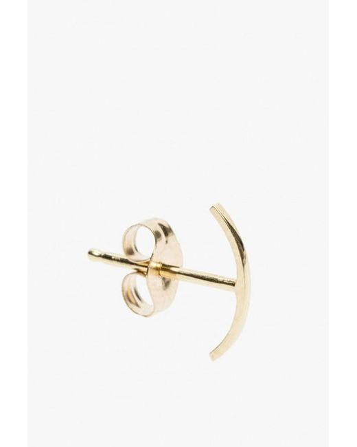 Kathleen Whitaker | Metallic Stitch Earring - Single | Lyst