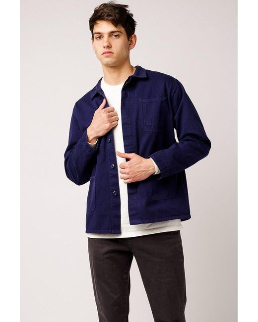 29bc74923a Welcome Stranger - Blue Chore Jacket for Men - Lyst ...