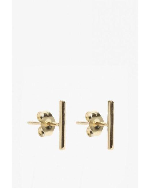 Loren Stewart | Metallic Small Rod Earrings | Lyst