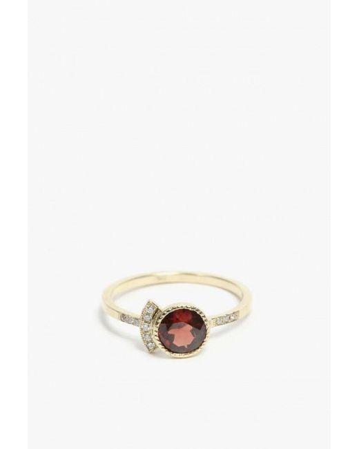 Jennie Kwon | Red Round Garnet Deco Ring | Lyst