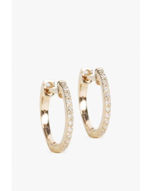 Ariel Gordon | Metallic 14k Pave Huggie Earrings | Lyst