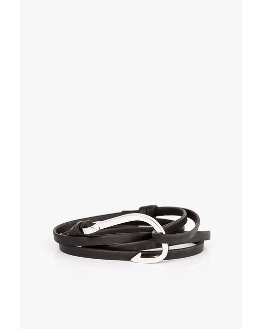 Miansai - Black Hook On Leather Bracelet for Men - Lyst