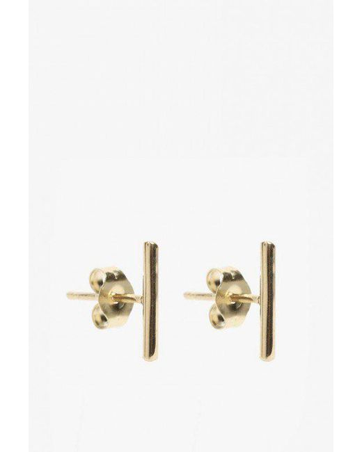 Loren Stewart | Metallic Small Rod Earrings | Lyst