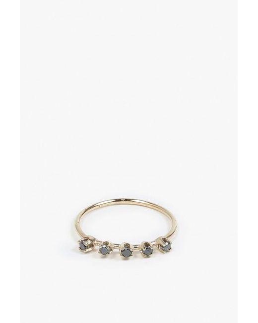 Loren Stewart | Metallic Five Diamond Prong Ring | Lyst