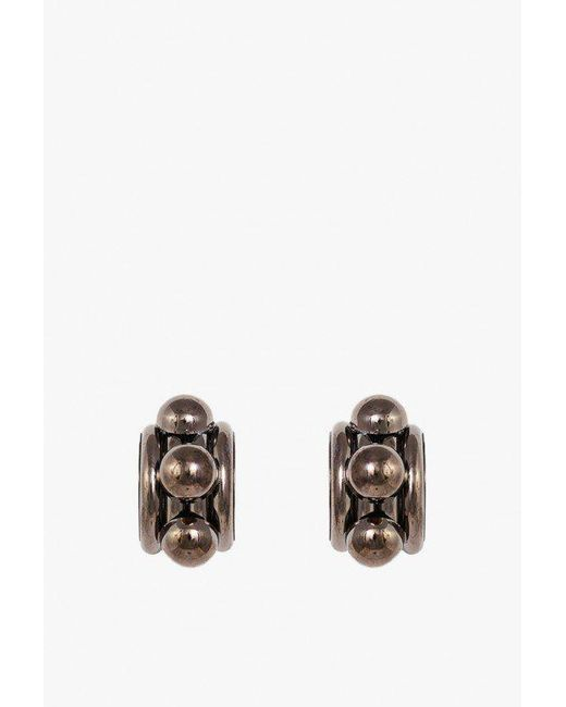 Nicole Romano | Multicolor Arched Tube And Dome Earrings | Lyst