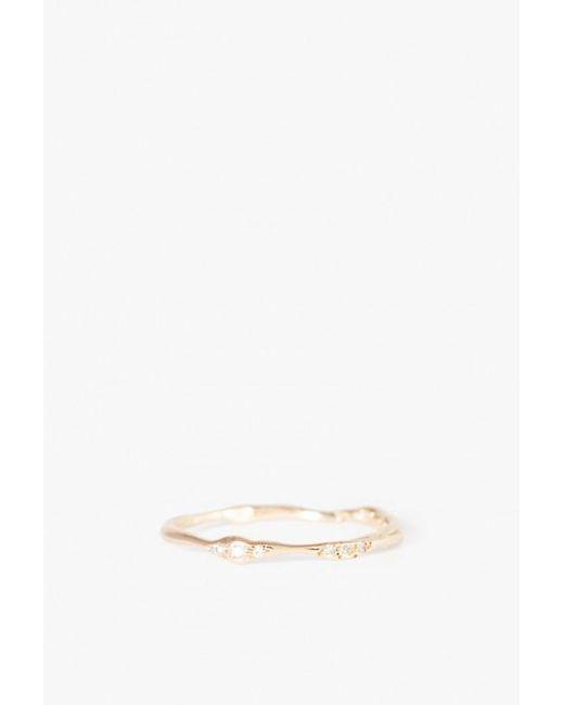 Blair Lauren Brown | Metallic Asymmetrical Diamond Branch Ring | Lyst