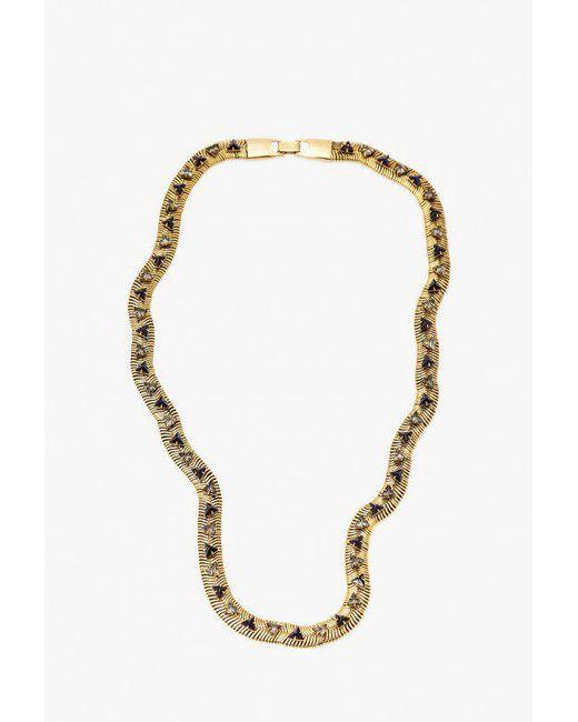 Nicole Romano - Metallic Snake Chain W/ Triangle Necklace - Lyst