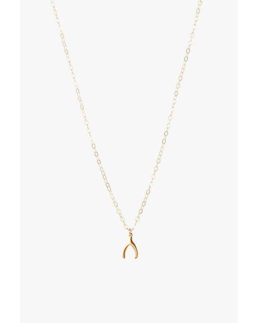 Seoul Little - Metallic Wishbone Necklace - Lyst