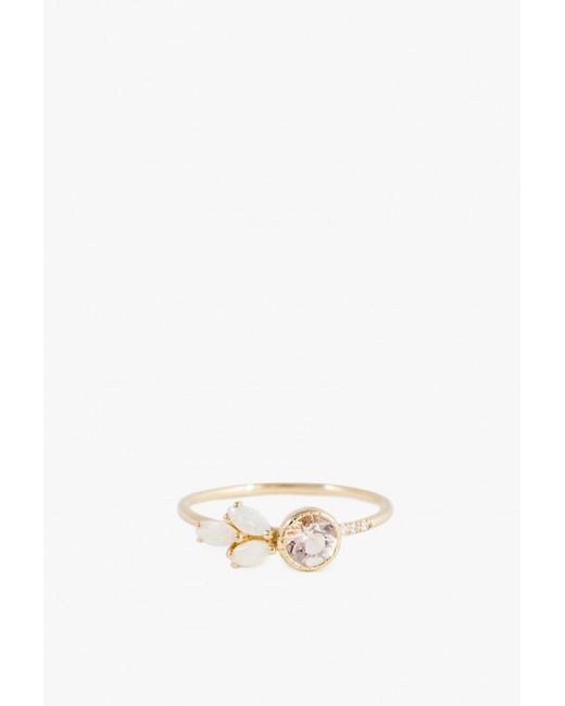 Jennie Kwon - Metallic Diamond Opal Leaf Ring - Lyst
