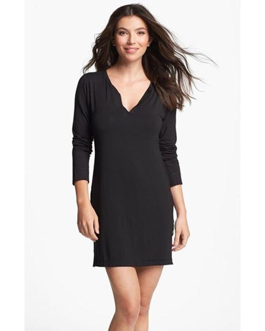 Calvin Klein | Black Essentials Sleep Shirt | Lyst