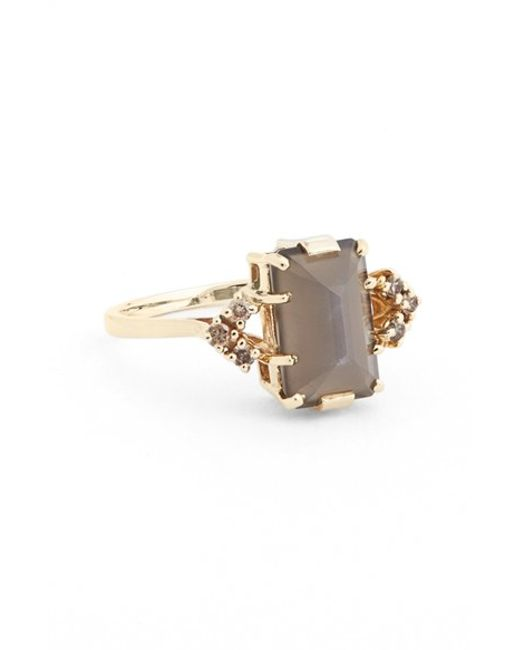 Anna Sheffield | Yellow 'bea' Moonstone & Champagne Diamond Arrow Ring | Lyst