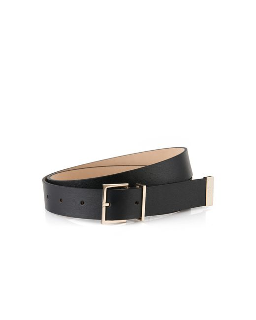 HUGO | Black Leather Belt: 'lexa' | Lyst