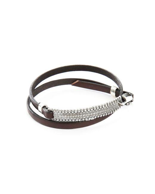 Gilbert Gilbert | Hen 12 Brown Leather Adjustable Bracelet for Men | Lyst