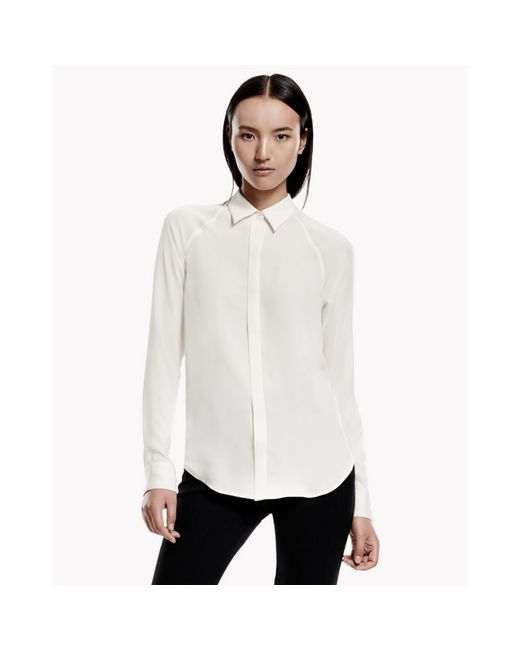 Theory   White Lanali Top In Modern Ggt   Lyst