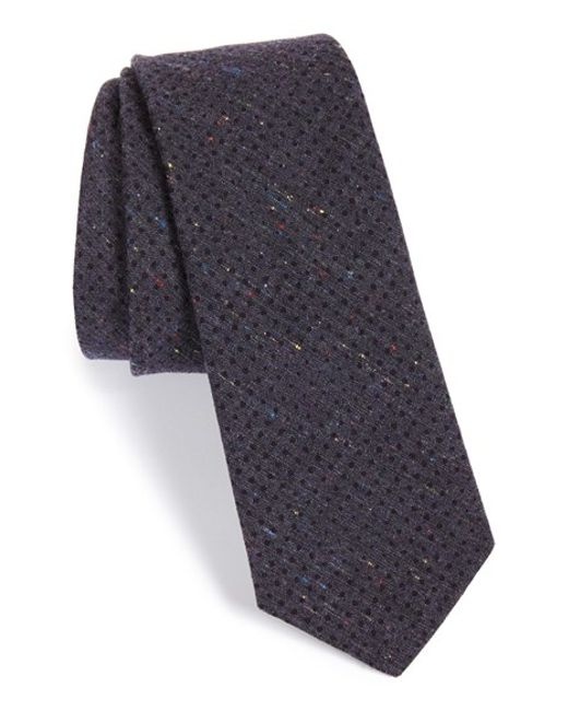 W.r.k. | Purple Dot Cotton Tie for Men | Lyst