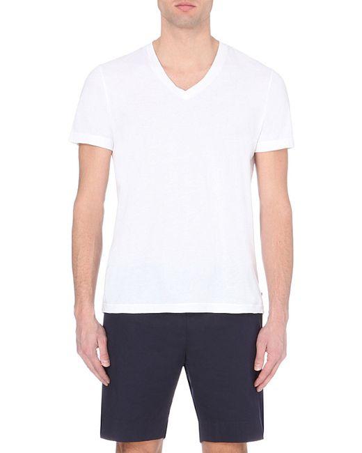 James Perse | White V-neck Cotton T-shirt for Men | Lyst
