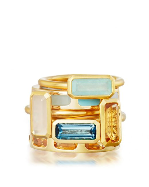 Astley Clarke | Metallic Moonstone Prismic Ring | Lyst