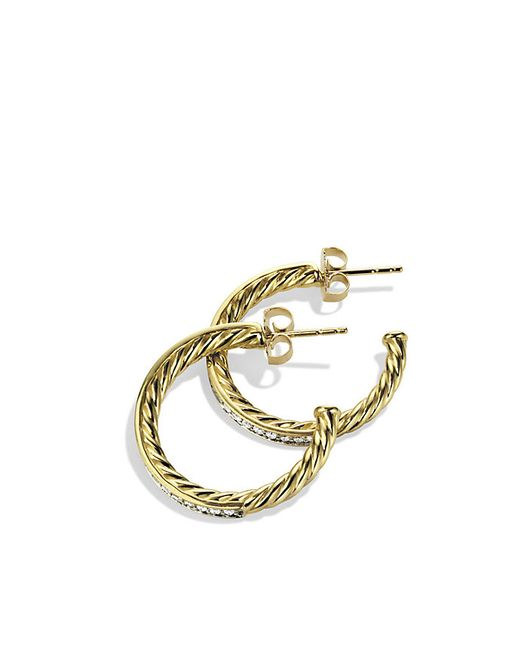 david yurman sculpted cable large hoop earrings with