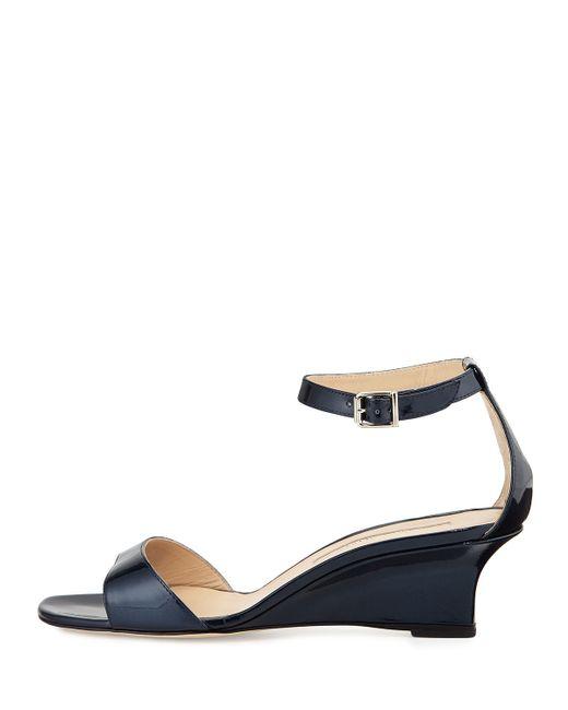 Manolo Blahnik | Blue Valtassa Patent Sandals | Lyst