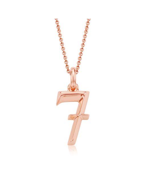 Monica Vinader | Pink Alphabet Pendant Number 7 | Lyst