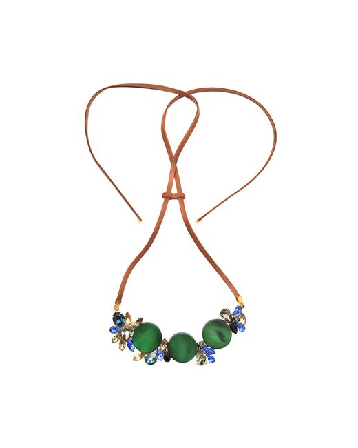Marni | Multicolor Leather And Horn Necklace | Lyst