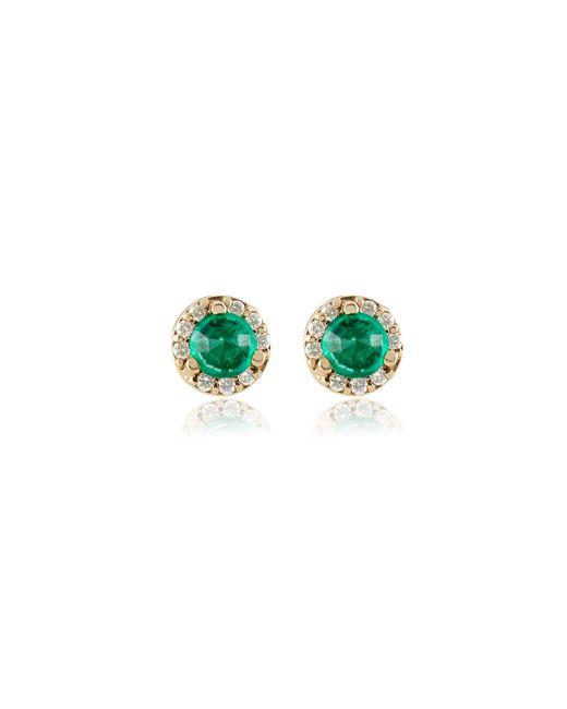 Anna Sheffield   Metallic Emerald Rosette Stud Earrings   Lyst