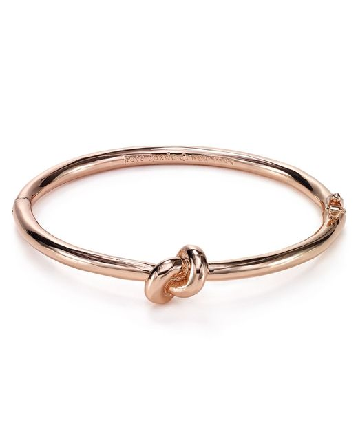Kate Spade | Metallic Sailor's Knot Hinge Bangle | Lyst