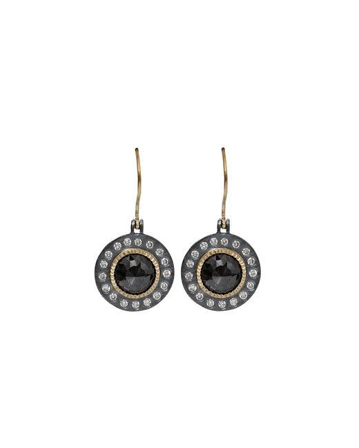Todd Reed | Metallic Black Diamond Drop Earrings | Lyst