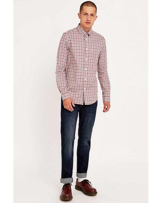 Ben Sherman | Red House Gingham Check Long Sleeve Shirt for Men | Lyst